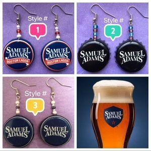 Samuel Adams Bottle Cap Earrings - 3 Styles